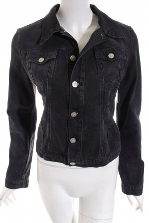 Versace Jeans Couture Jeansjacke schwarz Casual-Look