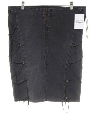 Versace Jeans Couture Jeansrock anthrazit Biker-Look