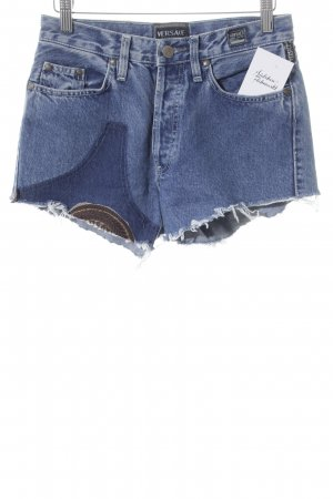Versace Jeans Couture Jeansshorts blau Casual-Look