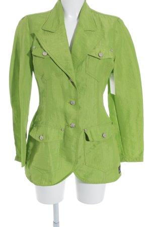Versace Jeans Couture Chaqueta larga verde neón look efecto mojado