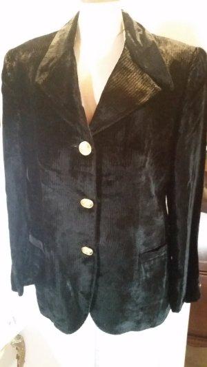 VERSACE-Jeans-Couture-Samt-Blazer-Jacke-schwarz-Medusa- Gr. 32/46 IT **NEU**