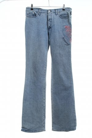Versace Jeans Couture Straight-Leg Jeans blau-pink Casual-Look