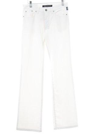 Versace Jeans Couture Pantalone elasticizzato bianco sporco stile classico