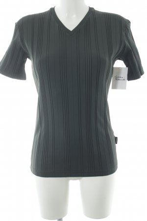 Versace Jeans Couture T-shirt grigio motivo a righe stile casual