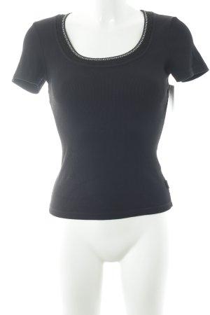 Versace Jeans Couture T-Shirt schwarz-dunkelblau schlichter Stil