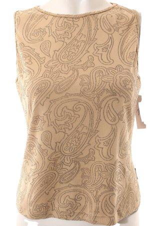 Versace Jeans Couture Tanktop beige Ornamentenmuster Glitzer-Optik