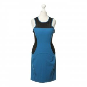 Versace Jeans Sheath Dress neon blue-black mixture fibre