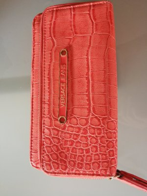 Versace Jeans Wallet salmon-bright red leather