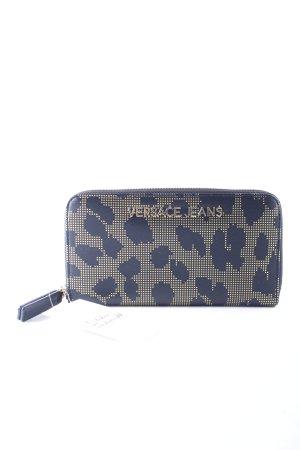Versace Jeans Geldbörse schwarz-goldfarben Leomuster