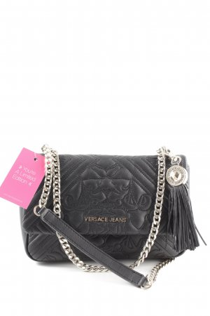 "Bolso Bag Crossbody Negro Chain Jeans Black"" Versace ""embroidered mnNw80"