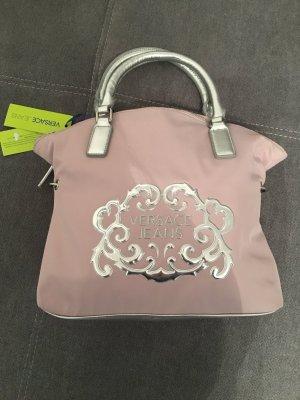 Versace Jeans Handtasche Silber Flieder Neu