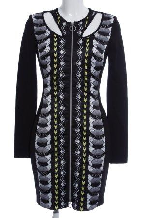 Versace Jeans Langarmkleid grafisches Muster Casual-Look