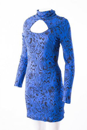 Versace Jeans Cut Out Dress blue-black viscose