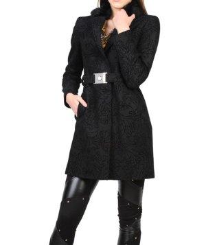 ☃ Versace Jeans Mantel Schwarz Rosenstruktur 40 42 und 44 Neu ☃