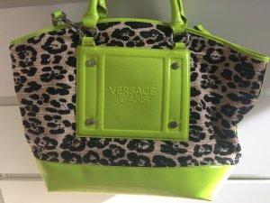 Versace Jeans Neongelb Leopard Tasche