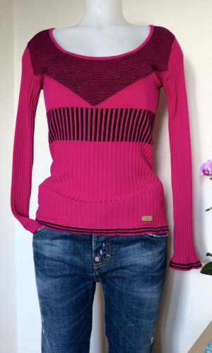 Versace Jeans Knitted Sweater black-magenta