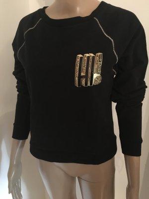 Versace Jeans Pullover Gr. 34 Schwarz Gold