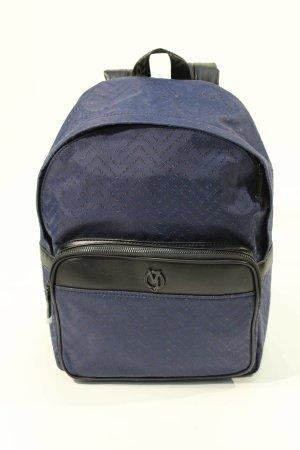 Versace Zaino laptop blu scuro Tessuto misto