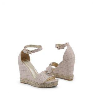 Versace Jeans Sandaletten Neu mit Etikett  beige Keilabsatz Versace Logo