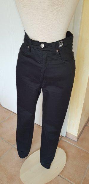 Versace Pantalone a vita alta nero