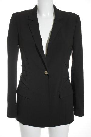Versace Jeans Blazer de esmoquin negro elegante
