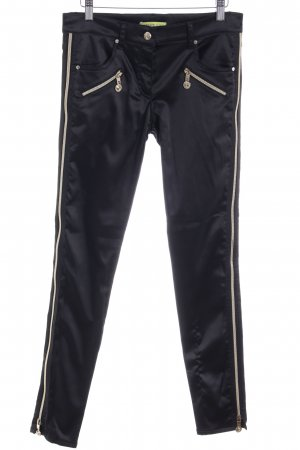 Versace Jeans Stoffhose schwarz-goldfarben Casual-Look