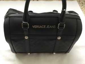 Versace Jeans Tasche aus Kunstleder in schwarz/Silber (Bowlingbag), NEU