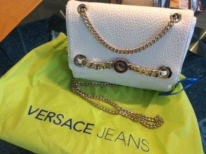 Versace Jeans-Tasche in weiss und gold mit Staubbeutel