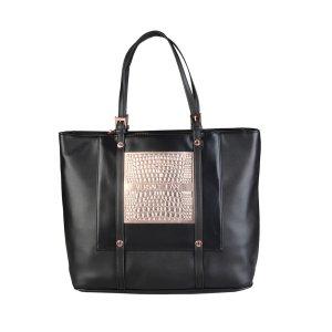 Versace Jeans Tasche Schwarz Gold Rosê XXL