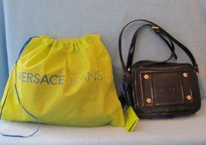 Versace Jeans Tasche Umhängetasche Clutch schwarz lack 19 cm NEU E1VHBBAH