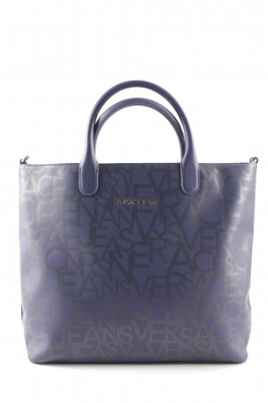 Versace Jeans Tote dark blue-anthracite allover print college style