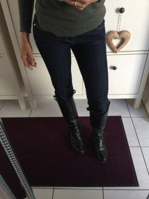 Versace Jeans xs 34 inch: 26 dunkelblau Gold Hose