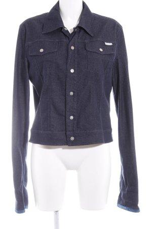 Versace Jeansjacke dunkelblau Jeans-Optik