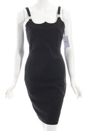 Versace Kleid schwarz Nadelstreifen Business-Look