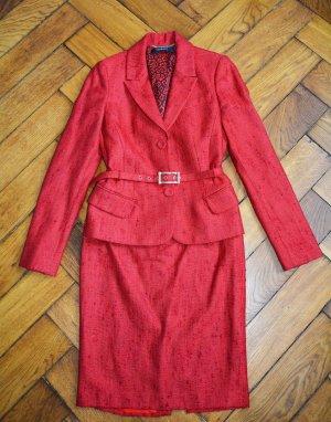 Versace Tailleur rosso mattone Tessuto misto