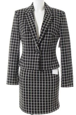 Versace Kostüm schwarz-weiß Karomuster klassischer Stil