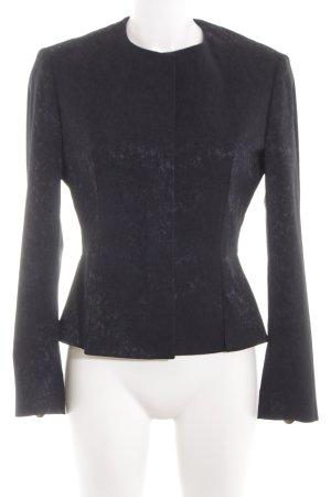 Versace Kurz-Blazer schwarz Allover-Druck Elegant