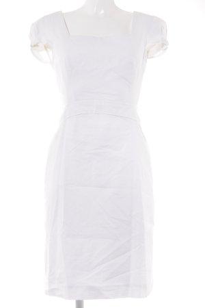 Versace Kurzarmkleid wollweiß Business-Look