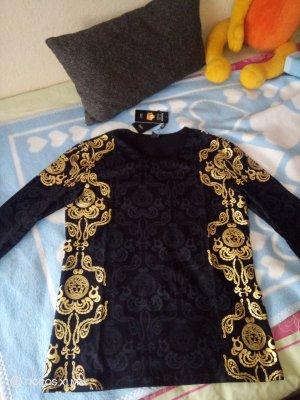 Versace Camicetta a maniche lunghe nero-oro