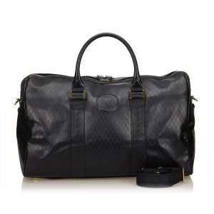 Versace Leather 2 Way Boston Bag