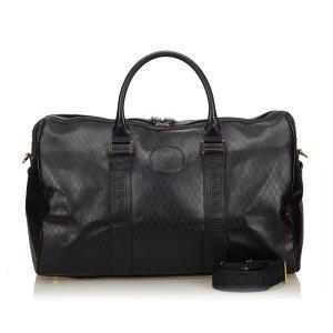 Versace Leather 2 Way Boston Bag