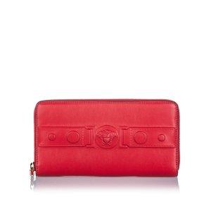 Versace Leather Medusa Zip Wallet