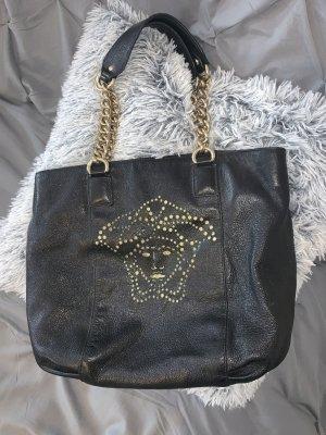 c84ac56a9ec3c Versace Leder Handtasche Henkeltasche Leder Schwarz Gold Medusa Head Tasche