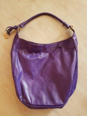 Versace Lederbag in lila # geräumig u schick# mit Goldelementen