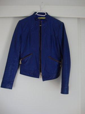 Versace Lederjacke 100% Original blau Gr. 34 wenig getragen