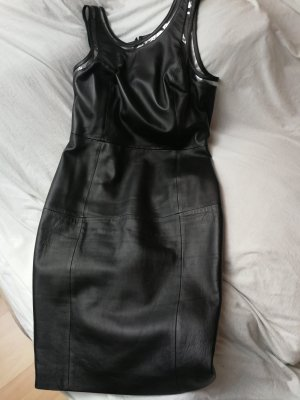 Versace Leather Dress black