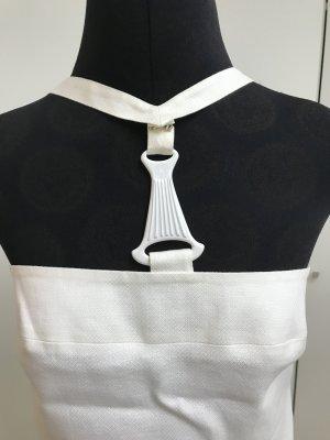 Versace Leinen-Coutoure Kleid weiß