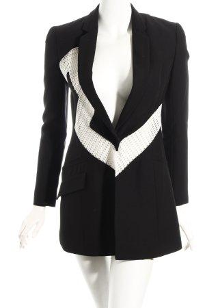 Versace Long-Blazer schwarz-weiß Elegant
