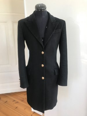 Versace Collection Wool Coat black wool