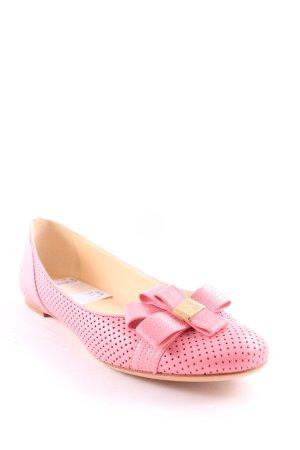 Versace Mary Jane Ballerinas rosa Elegant